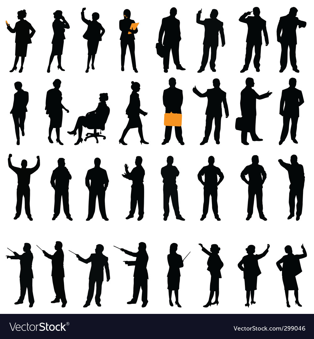 Business silhouette vector | Price: 1 Credit (USD $1)
