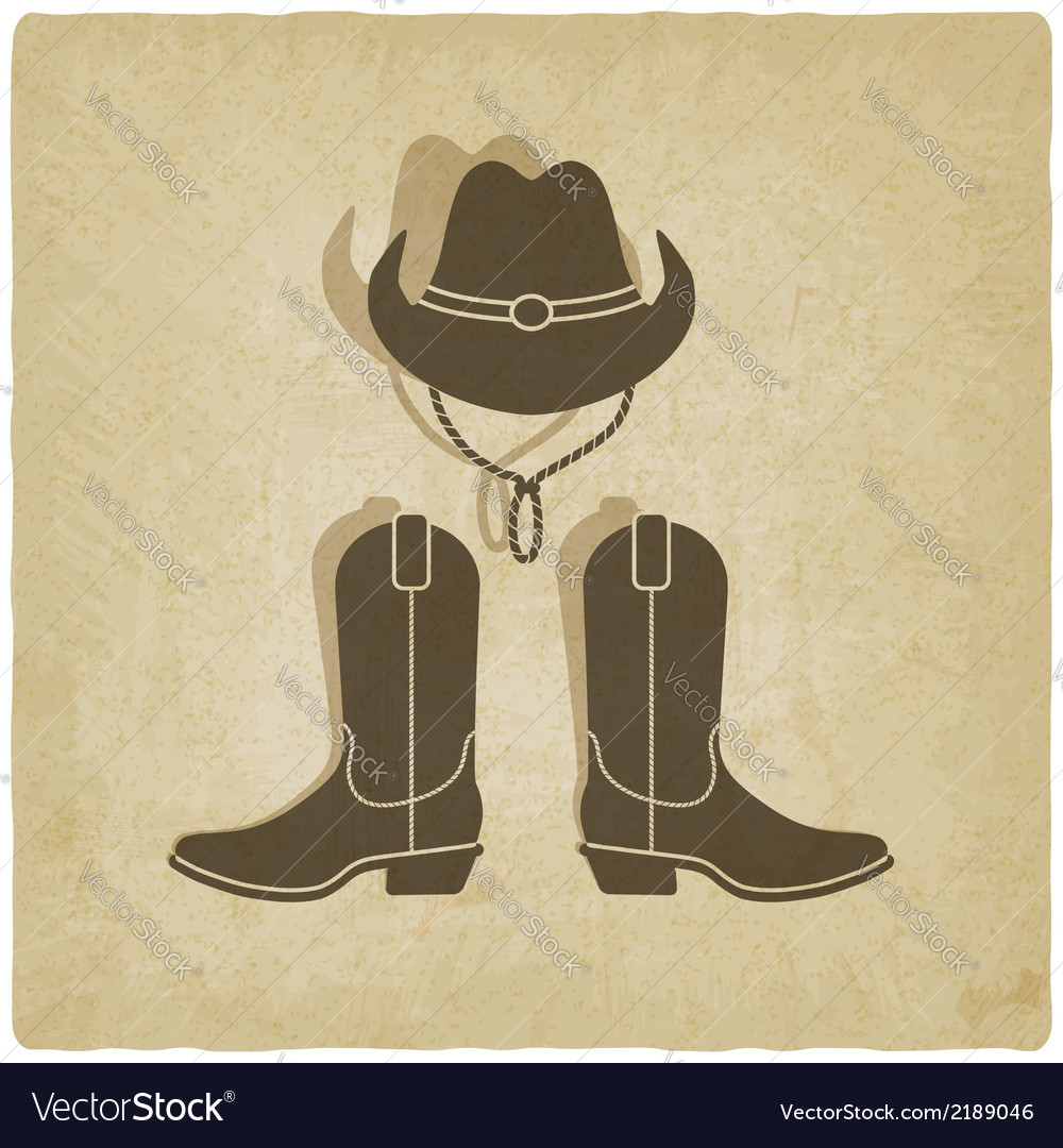 Cowboy old background vector | Price: 1 Credit (USD $1)