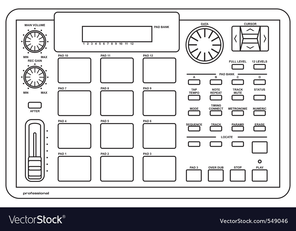Drum machine vector | Price: 1 Credit (USD $1)