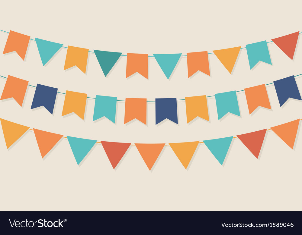 Party flags in pastel palette vector | Price: 1 Credit (USD $1)