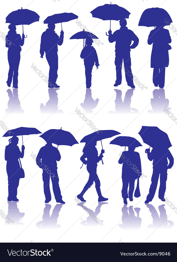 People silhouettes vector | Price: 3 Credit (USD $3)