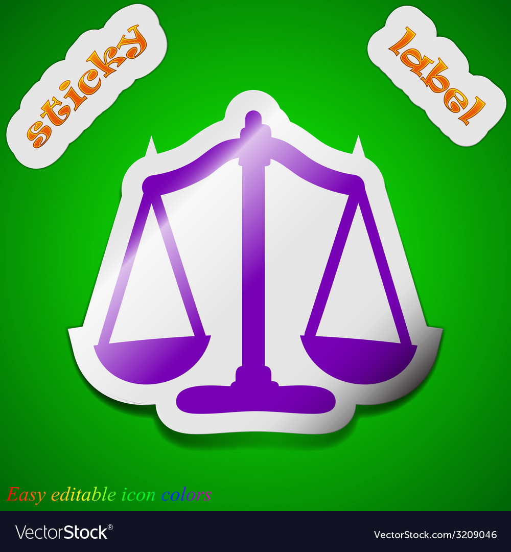 Scales balance icon sign symbol chic colored vector | Price: 1 Credit (USD $1)
