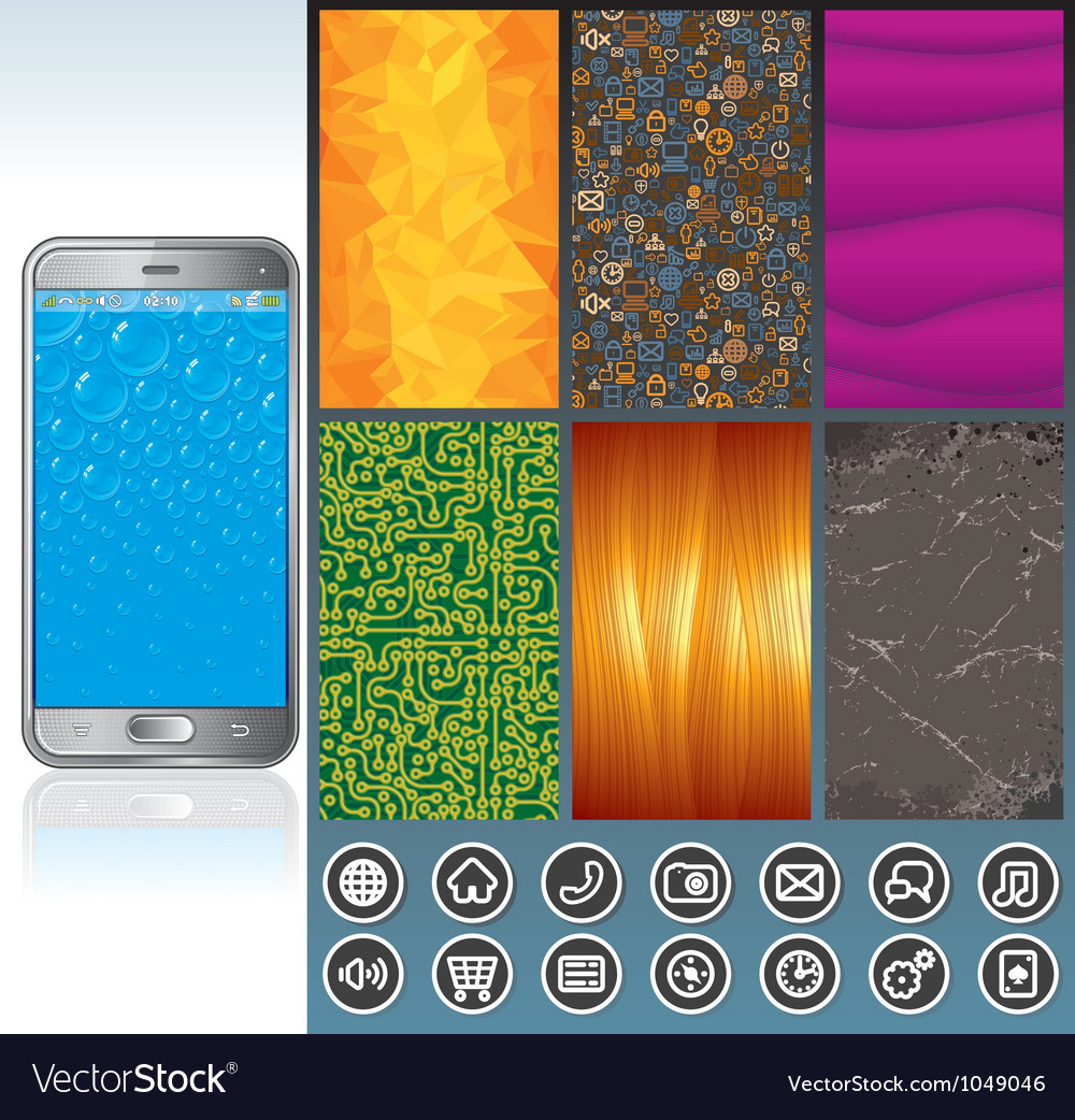 Smart phone design kit vector