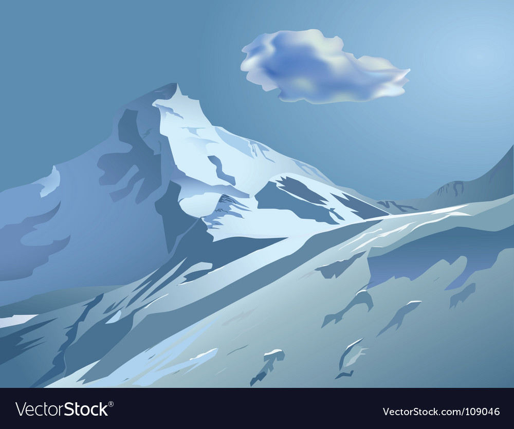 Snowy mountains vector | Price: 3 Credit (USD $3)