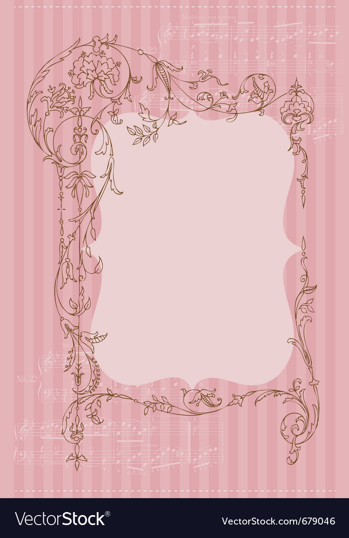 Vintage frame invitation card vector | Price: 1 Credit (USD $1)