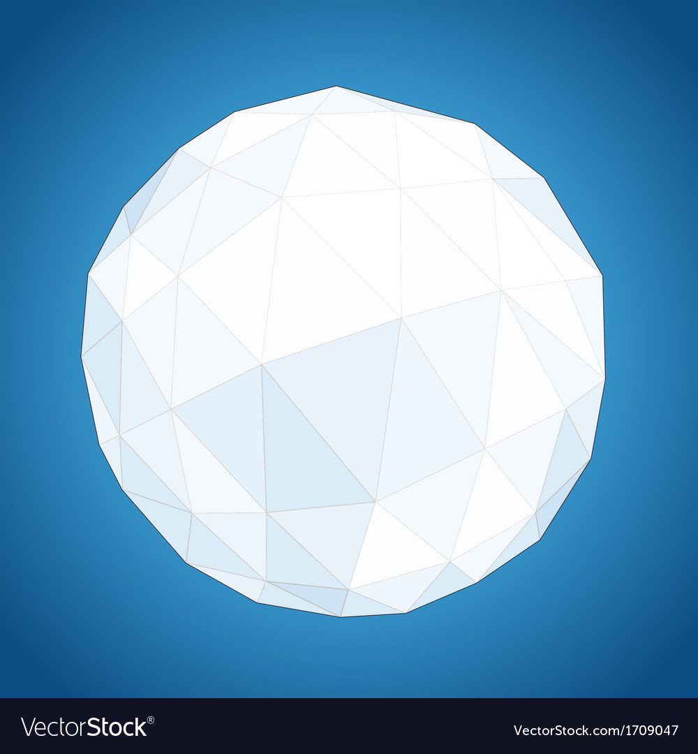 Abstract geometric paper origami sphere vector | Price: 1 Credit (USD $1)