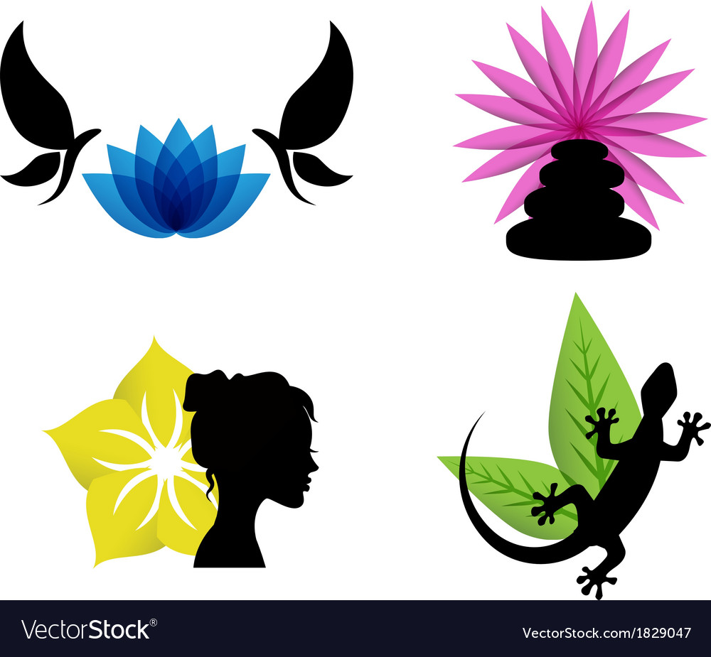 Abstract spa icons vector | Price: 1 Credit (USD $1)