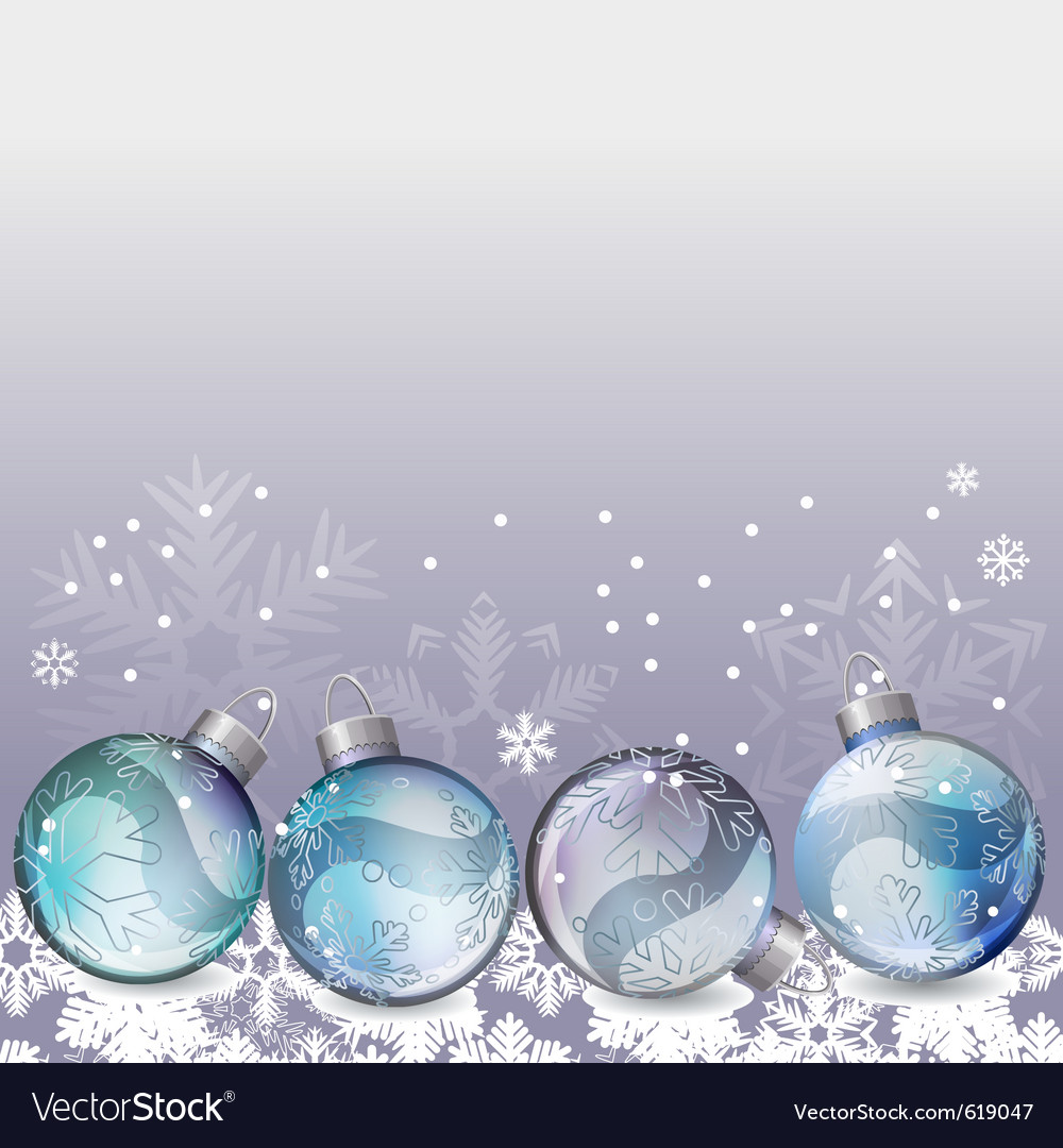 Blue christmas background with glass balls vector | Price: 1 Credit (USD $1)