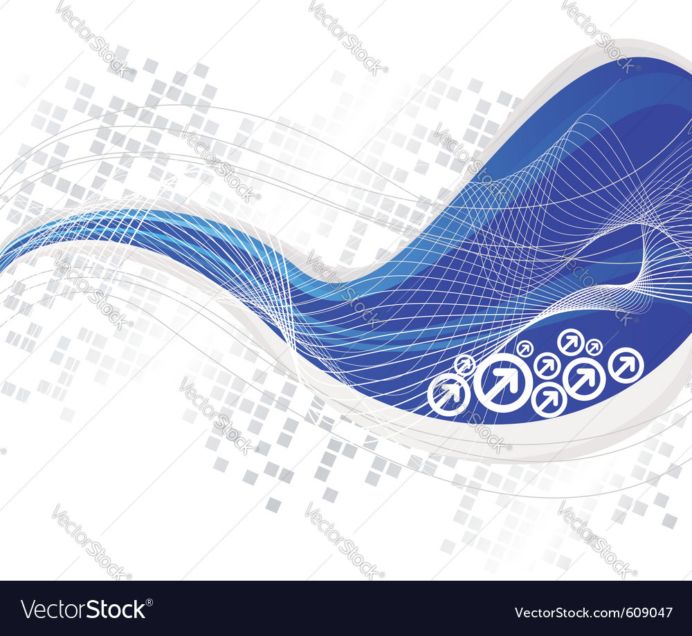 Blue line - high-tech background vector | Price: 1 Credit (USD $1)