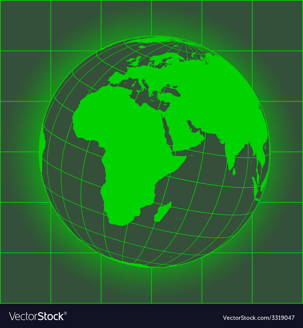 Europe and africa green vector | Price: 1 Credit (USD $1)