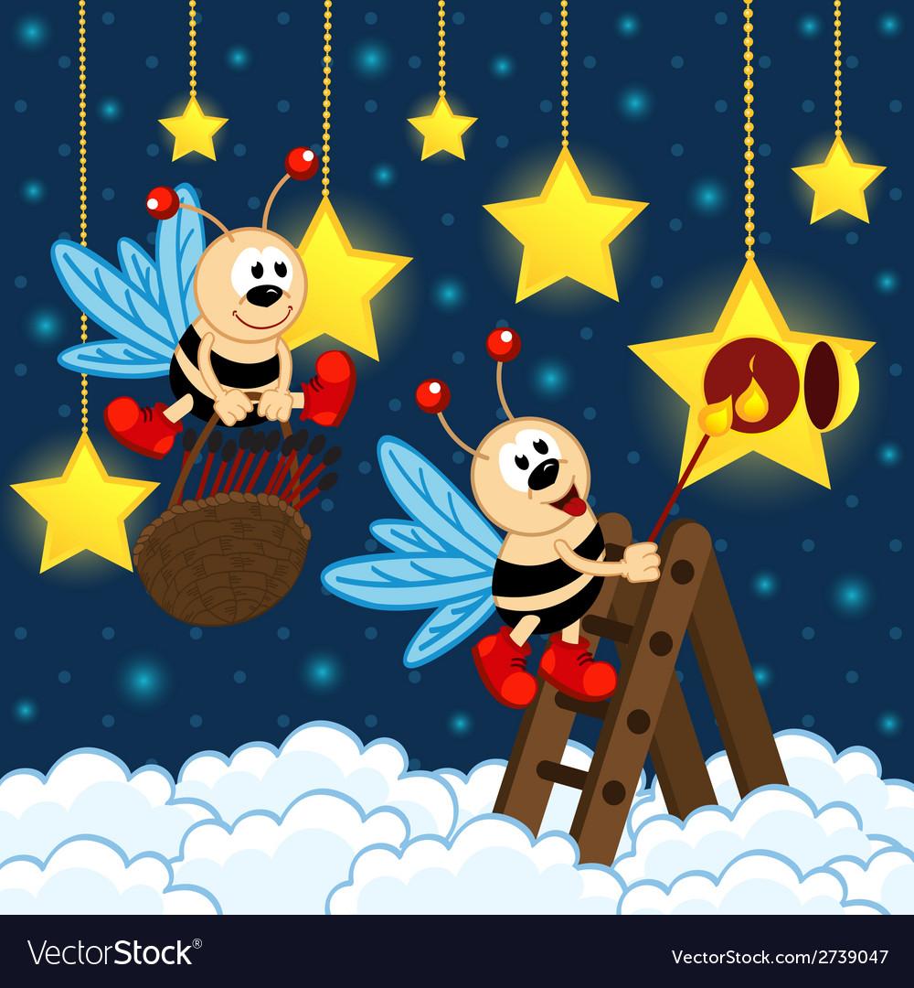 Firefly illuminated star vector | Price: 1 Credit (USD $1)