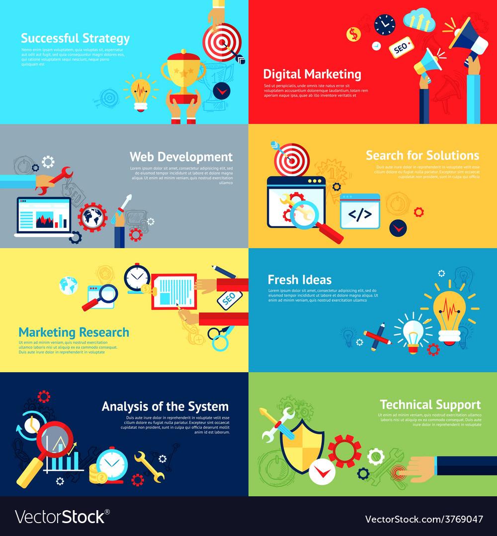 Internet design concept set vector