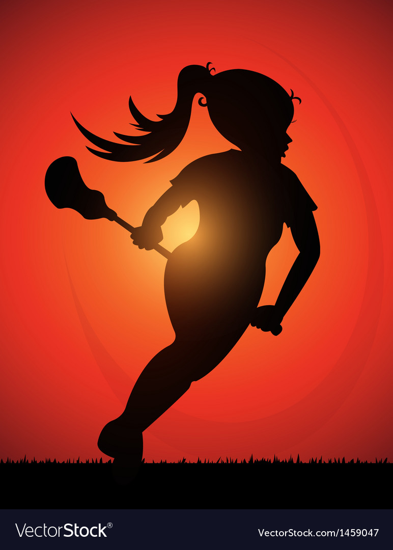 Lacrosse girl vector | Price: 1 Credit (USD $1)