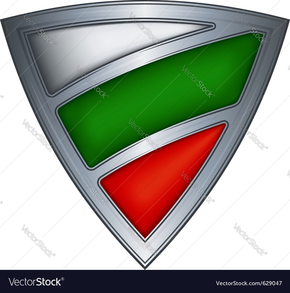 Steel shield with flag bulgaria vector | Price: 1 Credit (USD $1)