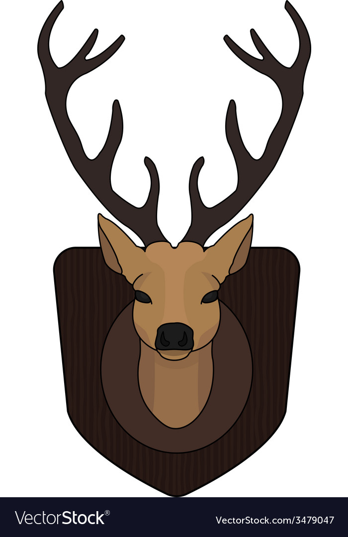 Stuffed taxidermy deer head vector | Price: 1 Credit (USD $1)