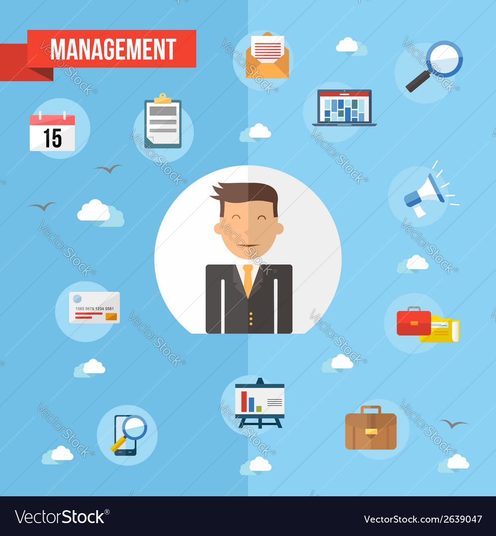 Success businessman flat concept vector | Price: 1 Credit (USD $1)