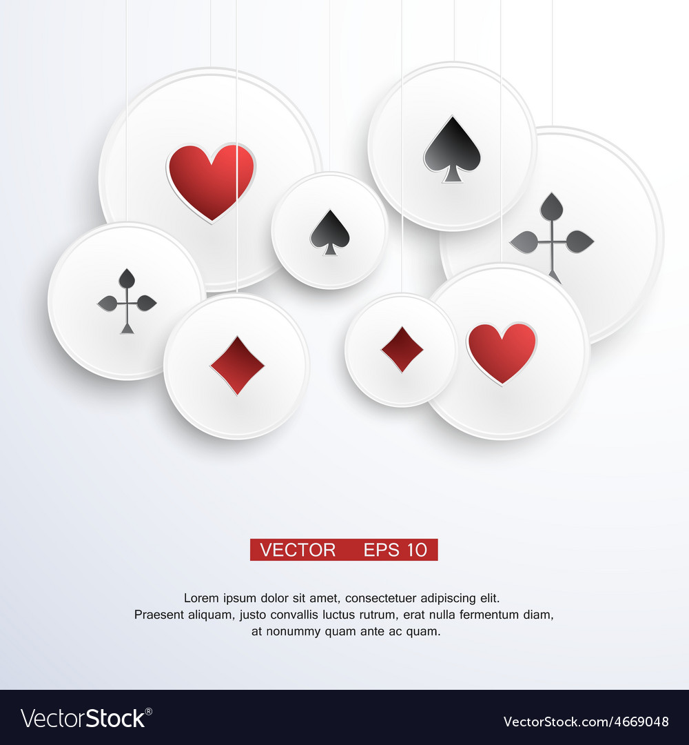 Abstract background with playing cards vector | Price: 1 Credit (USD $1)