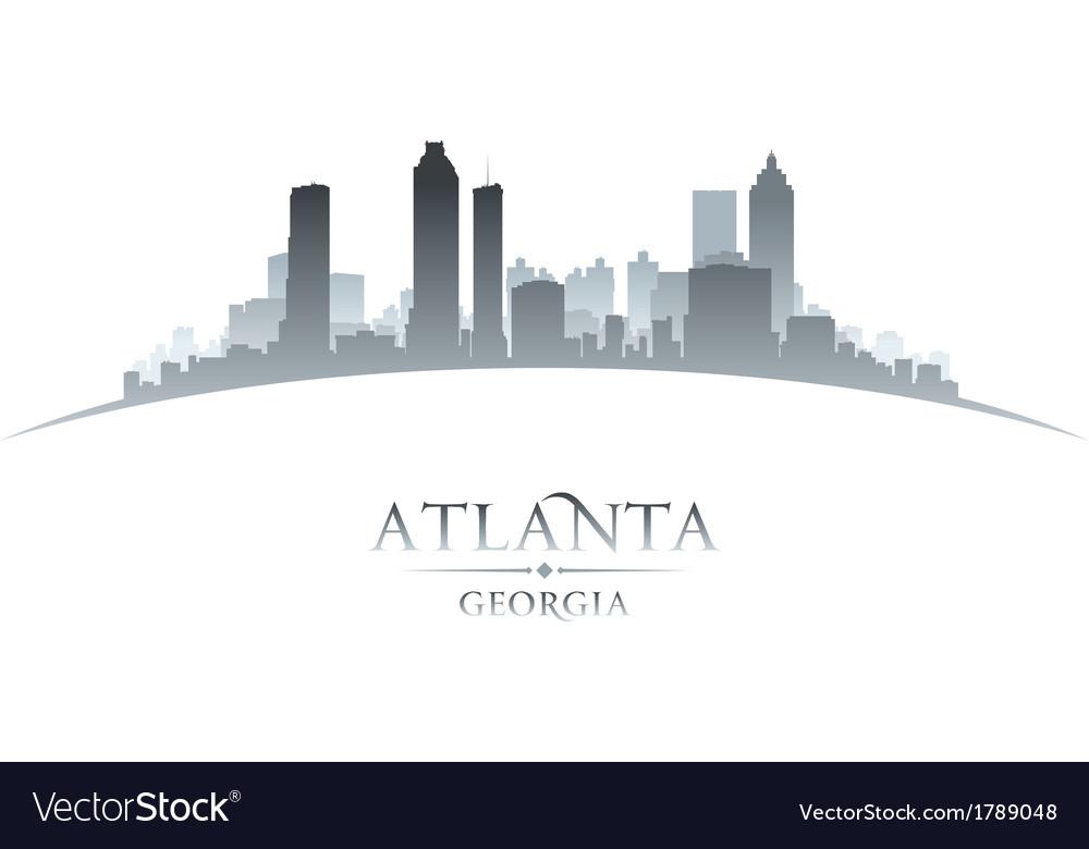 Atlanta georgia city skyline silhouette vector   Price: 1 Credit (USD $1)