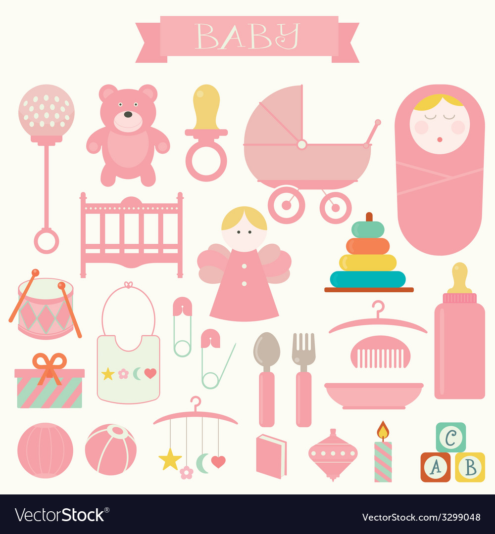 Babies and baby products vector | Price: 1 Credit (USD $1)