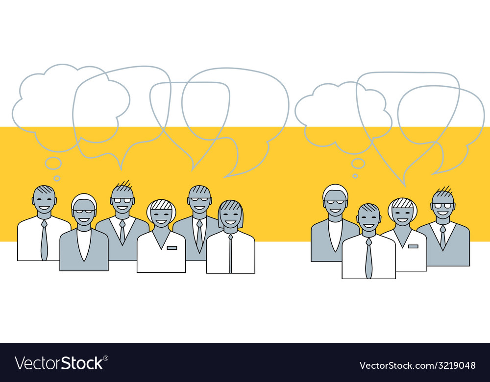 Business people talking concept vector | Price: 1 Credit (USD $1)