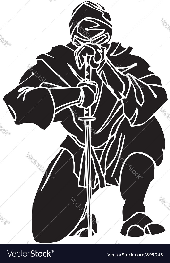 Ninja fighter -  vinyl-ready vector | Price: 1 Credit (USD $1)
