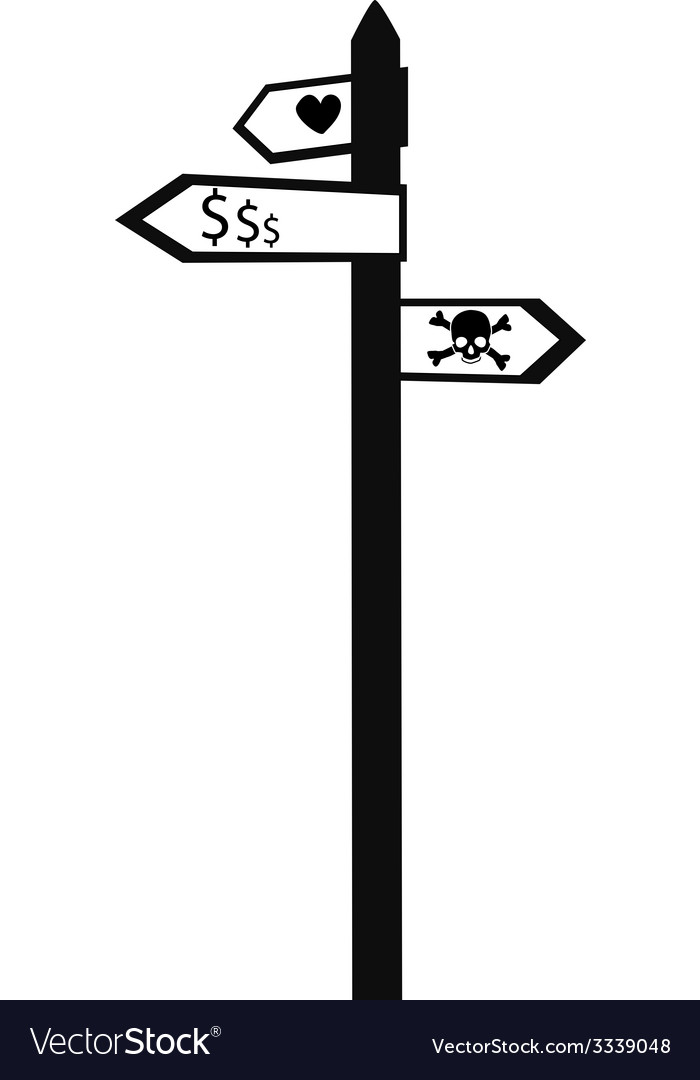 Sign post vector | Price: 1 Credit (USD $1)