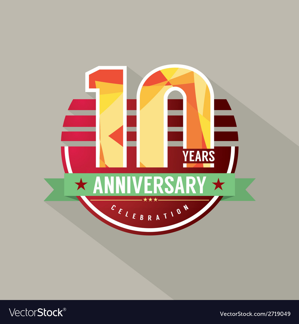 10 years anniversary celebration design vector | Price: 1 Credit (USD $1)
