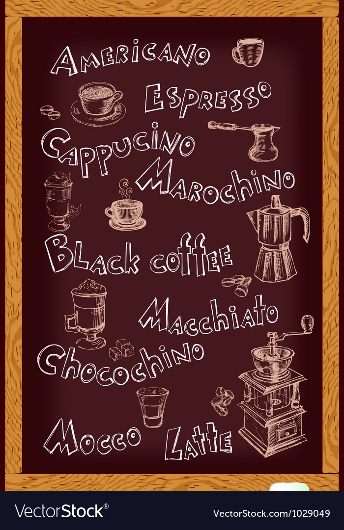 Blackboard for cafe vector | Price: 1 Credit (USD $1)