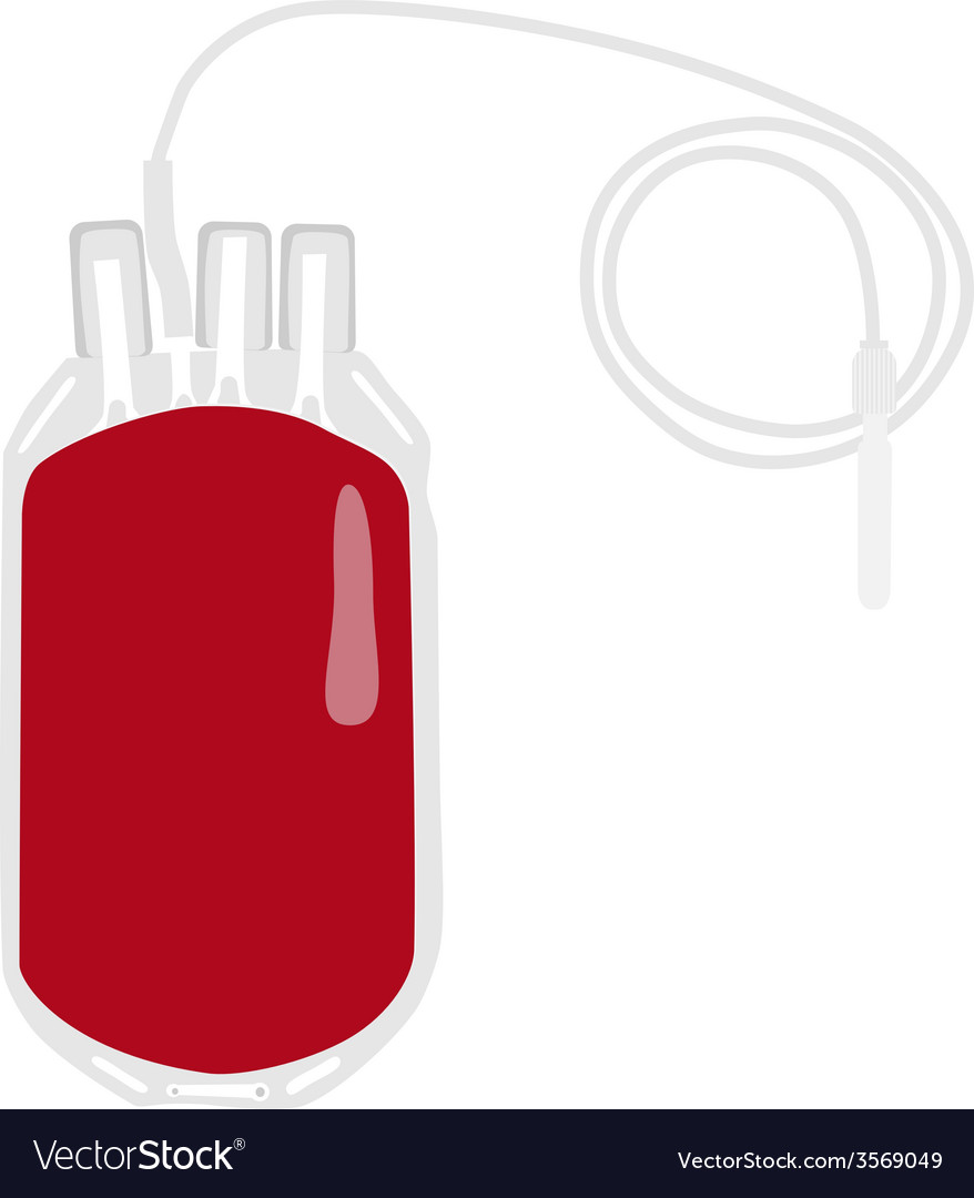 Blood bag vector | Price: 1 Credit (USD $1)