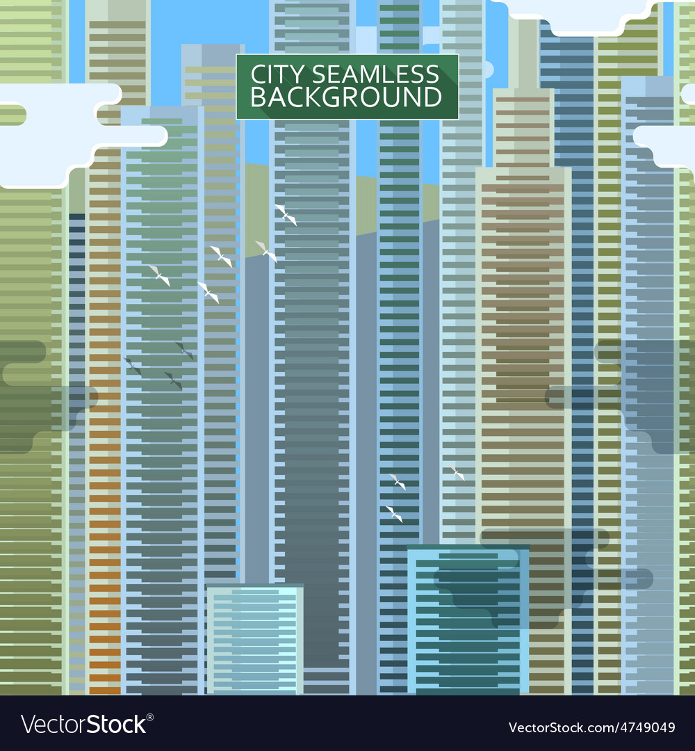 City seamless background vector   Price: 1 Credit (USD $1)
