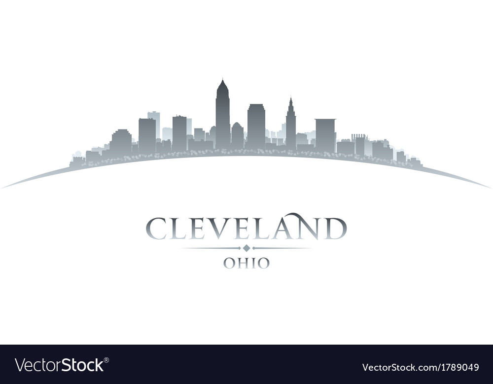 Cleveland ohio city skyline silhouette vector | Price: 1 Credit (USD $1)