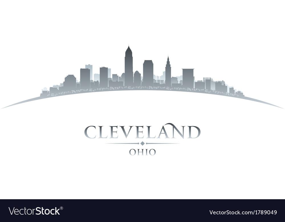 Cleveland ohio city skyline silhouette vector | Price: 1 Credit (USD $1)