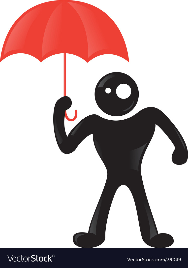 Man rain icon vector | Price: 1 Credit (USD $1)