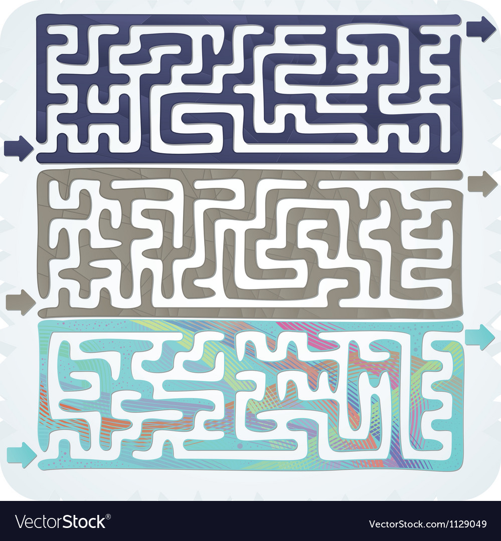 Set of maze vector | Price: 1 Credit (USD $1)