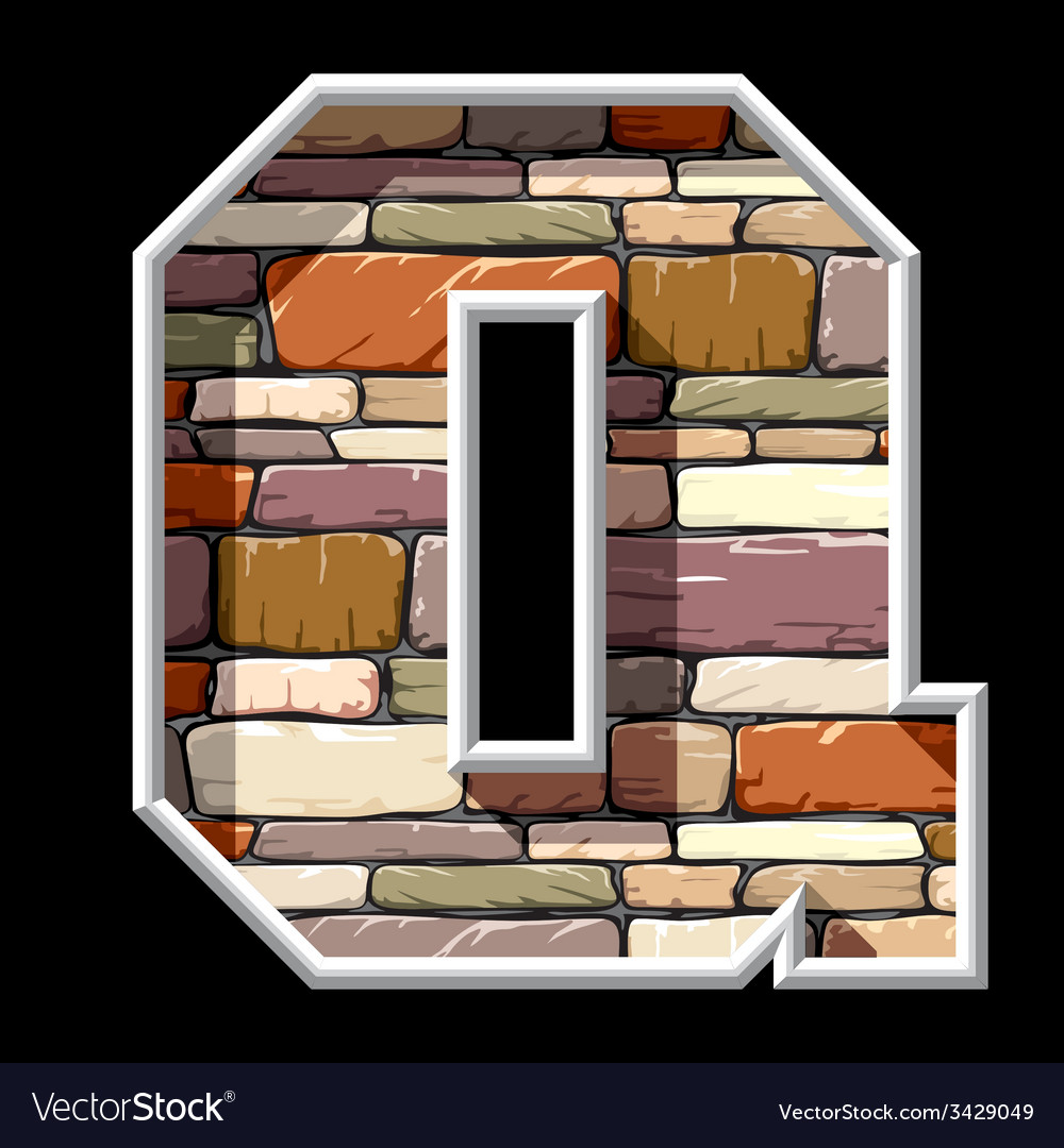 Stone letter q vector | Price: 1 Credit (USD $1)