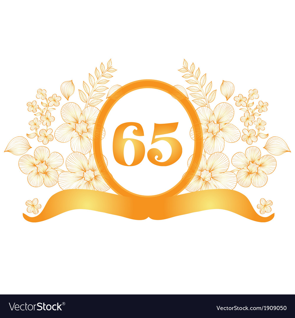 65th anniversary banner vector | Price: 1 Credit (USD $1)