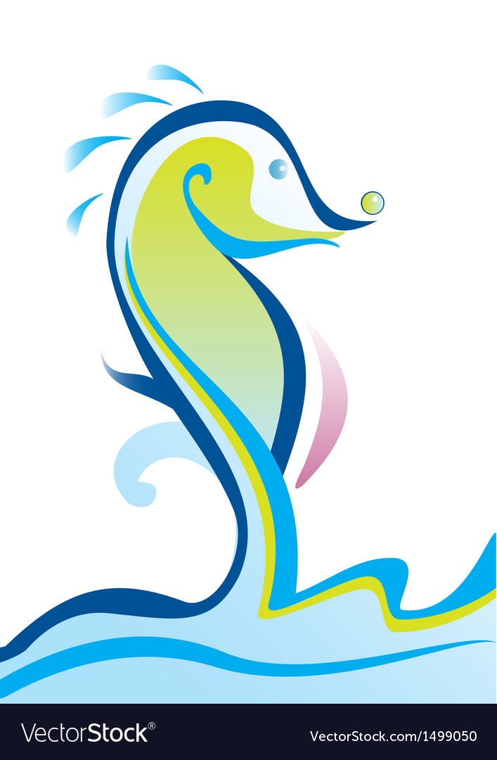 Abstract sea horse vector | Price: 1 Credit (USD $1)