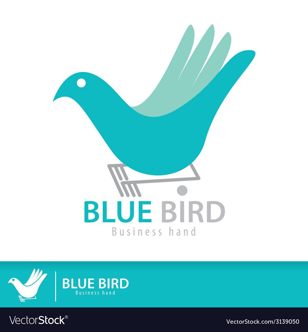 Blue birdjpg vector | Price: 1 Credit (USD $1)