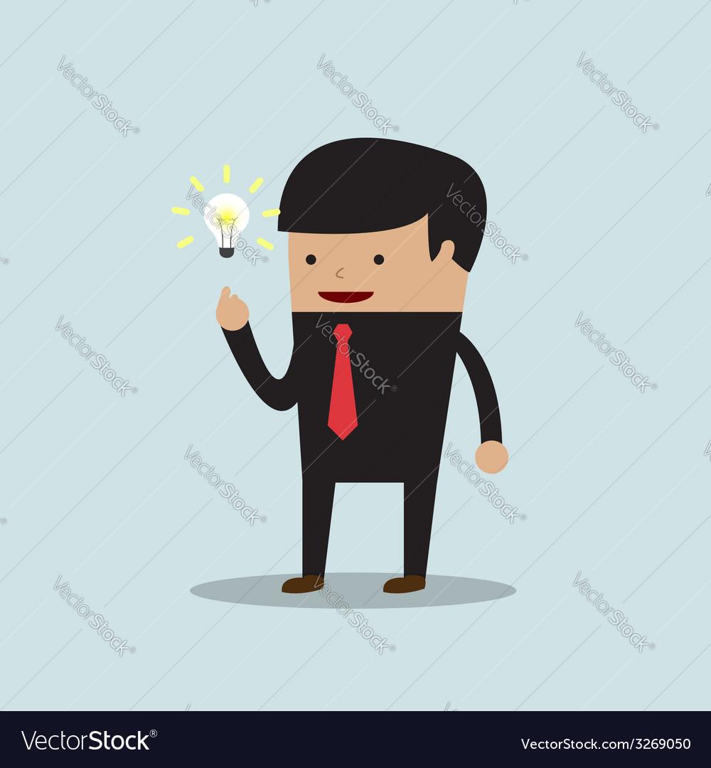 Businessman get the good idea vector | Price: 1 Credit (USD $1)