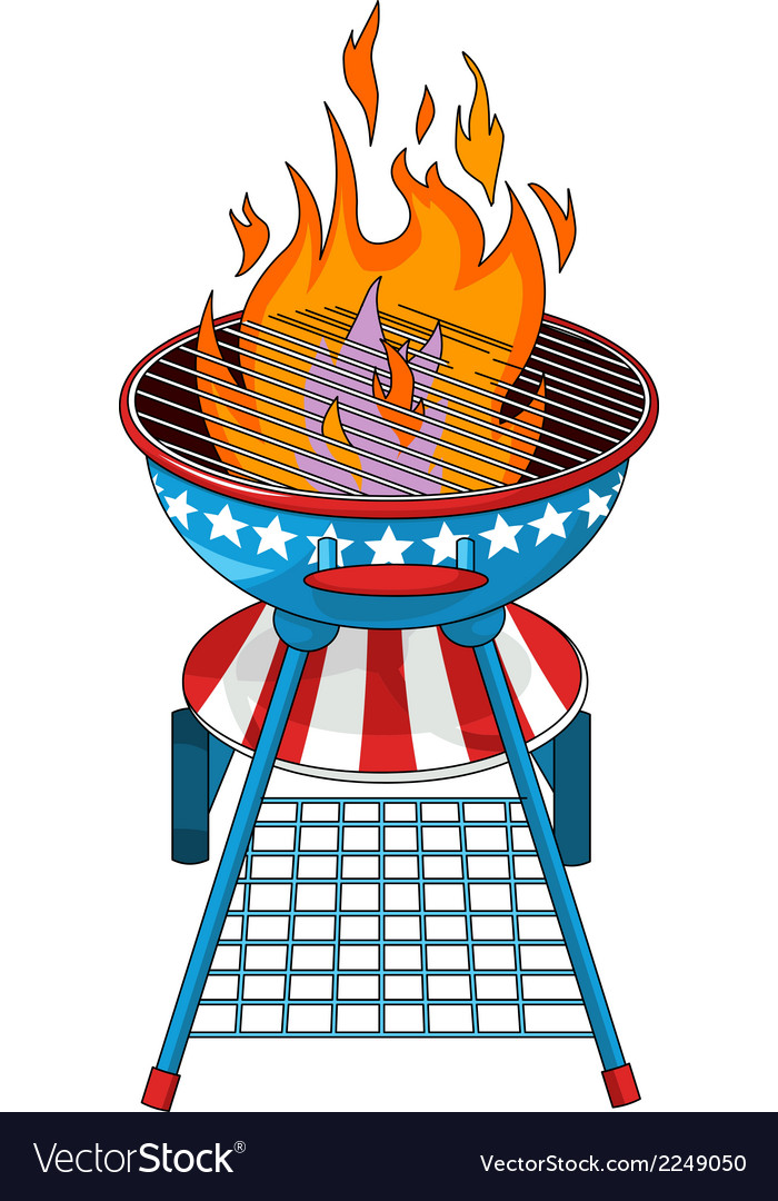Patriotic barbeque grill vector | Price: 1 Credit (USD $1)