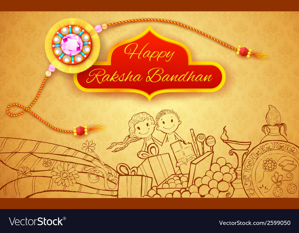 Raksha bandhan doodle vector | Price: 1 Credit (USD $1)