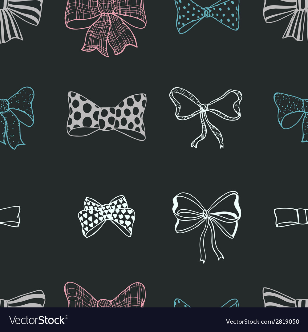 Set of bows hand drawn vector | Price: 1 Credit (USD $1)