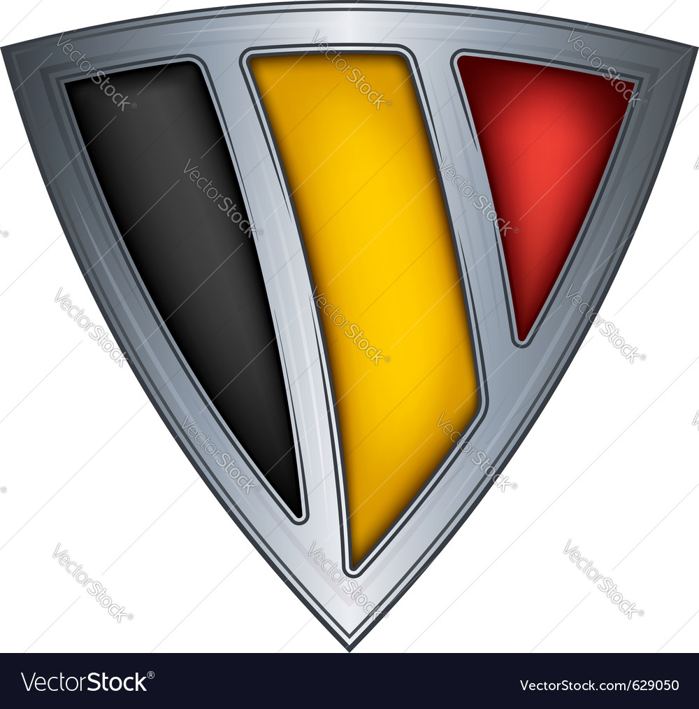 Steel shield with flag belgium vector | Price: 1 Credit (USD $1)
