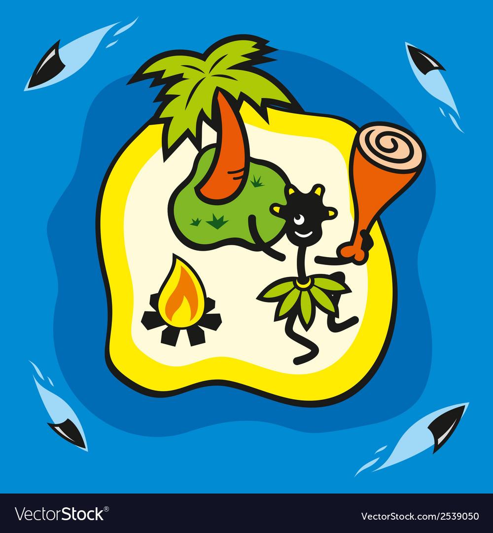 Wild island vector | Price: 1 Credit (USD $1)