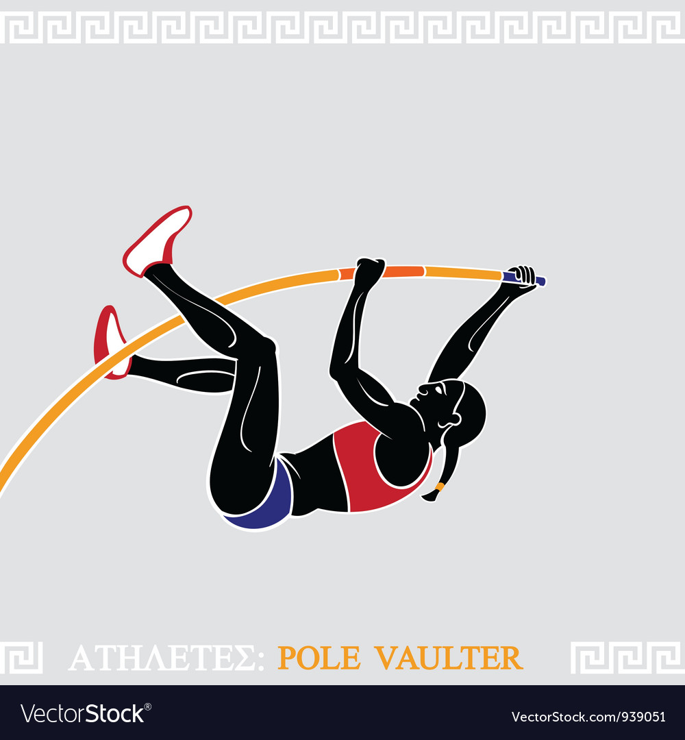 Athlete pole vaulter vector | Price: 3 Credit (USD $3)