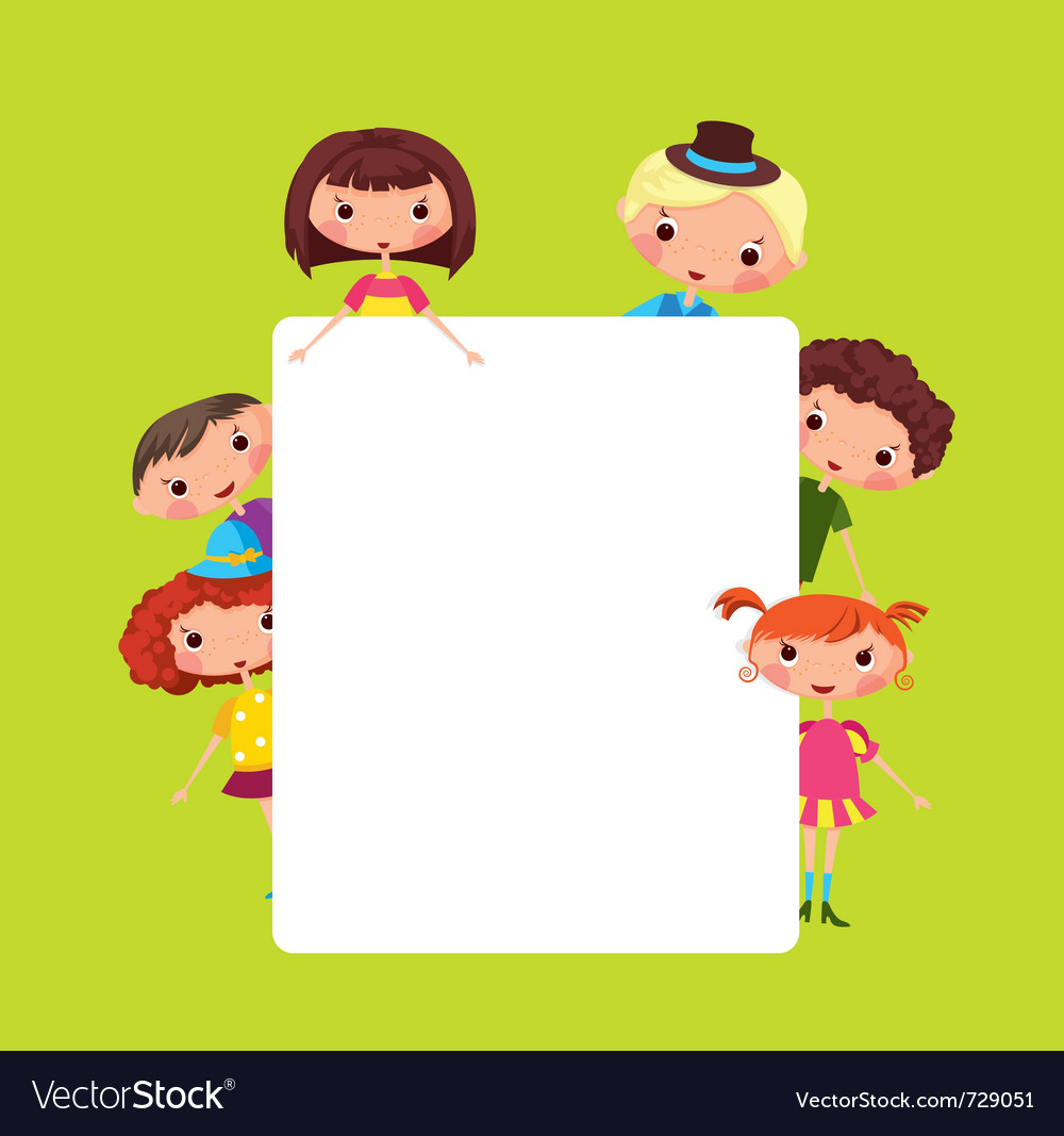 Cartoon children frame vector | Price: 3 Credit (USD $3)