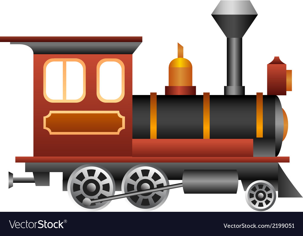 Old train vector | Price: 1 Credit (USD $1)