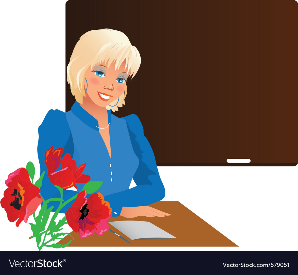 School teacher vector | Price: 1 Credit (USD $1)