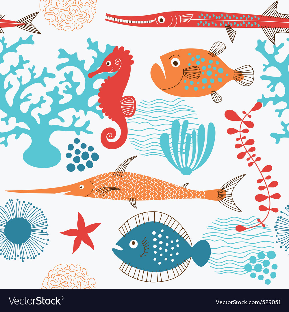 Sea fauna vector | Price: 3 Credit (USD $3)
