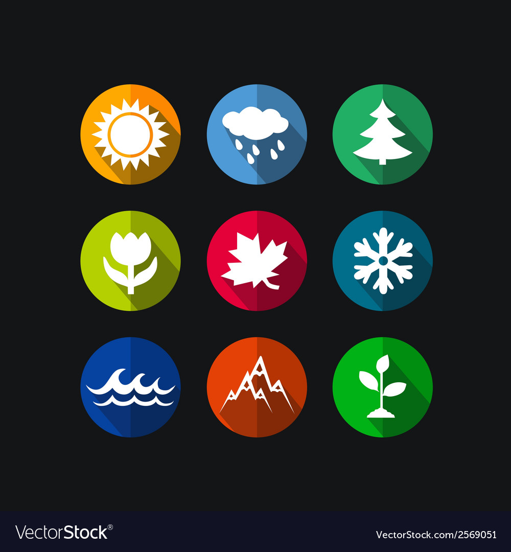 Season icons vector | Price: 1 Credit (USD $1)